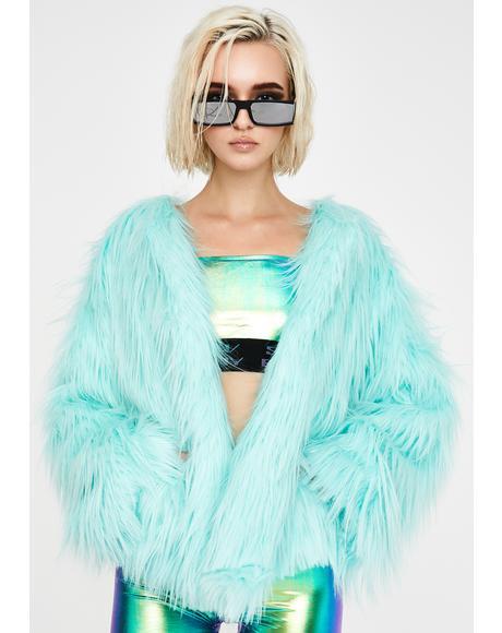 Malibu Twilight Sparkle Faux Fur Coat