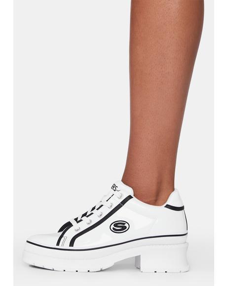 White Heartbeat Loud Sneakers