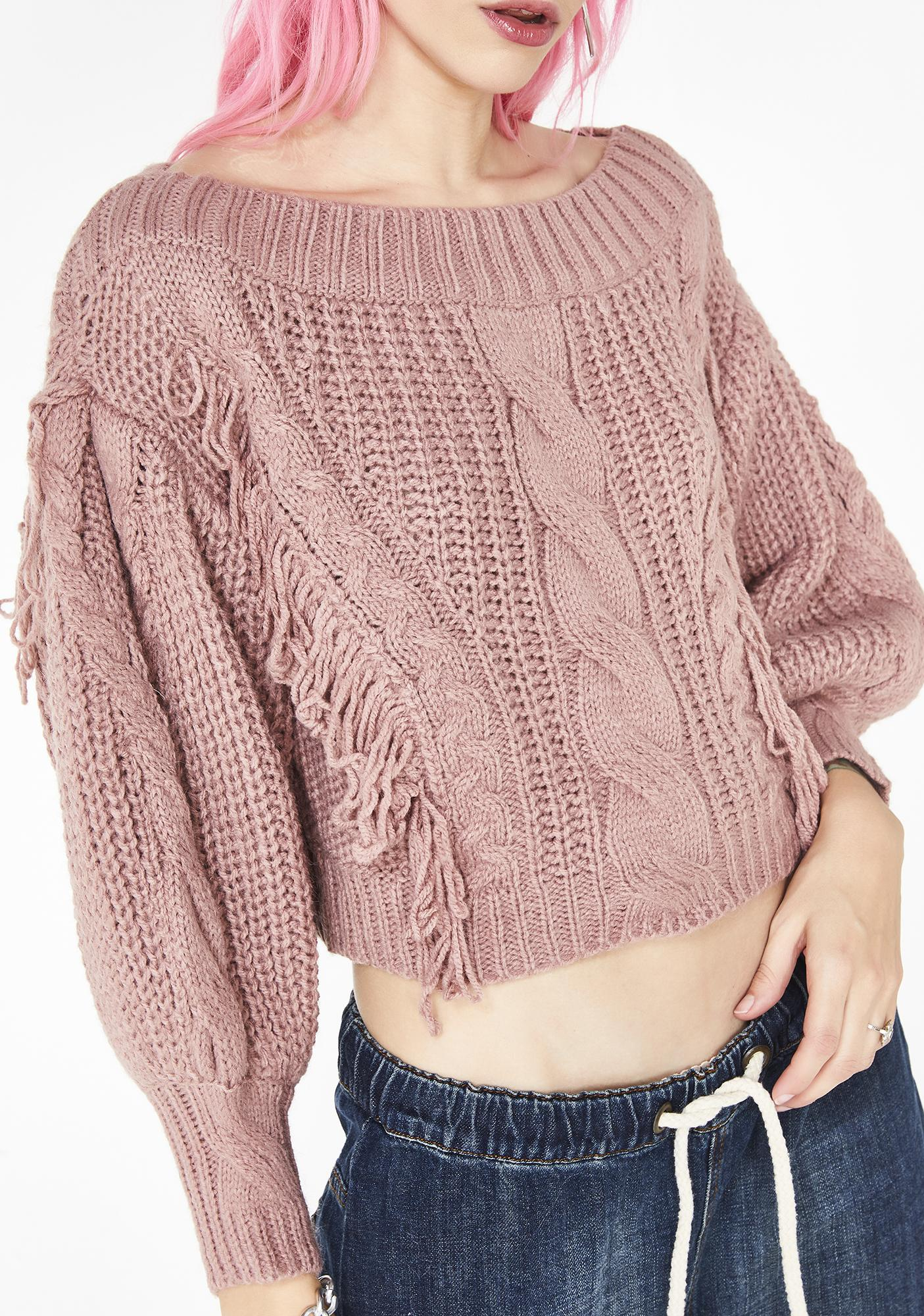 Sweet Positive Vibes Chunky Sweater