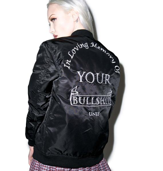 UNIF In Memory Bomber Jacket