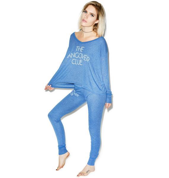 Wildfox Couture Hangover Club Beach Camping Pajama Set