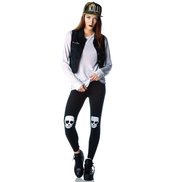 Eye Heart Skulls Leggings