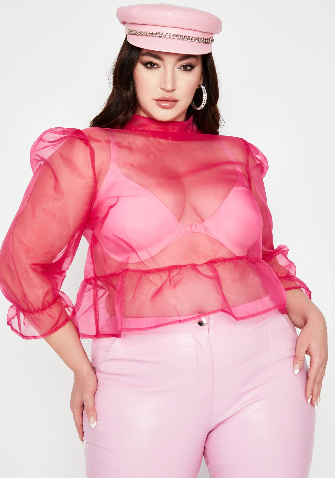 Pretty Legit Blurred Lines Organza Blouse