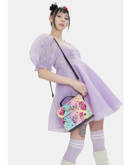 Rainbow Rose Crossbody Bag