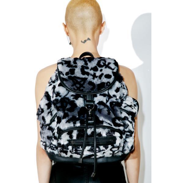 Killstar Sinergy Playdate Fur Backpack