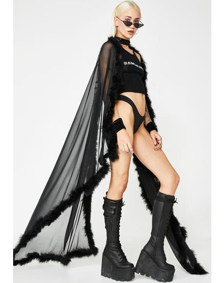 Night Raven Sheer Cape