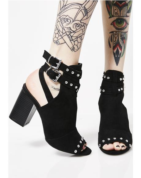 Designer Drugs Peep Toe Booties