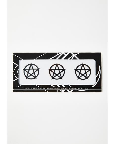Pentacle Face Sticker