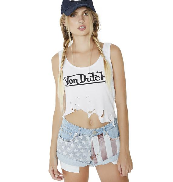 Plead The Fifth Distressed Shorts