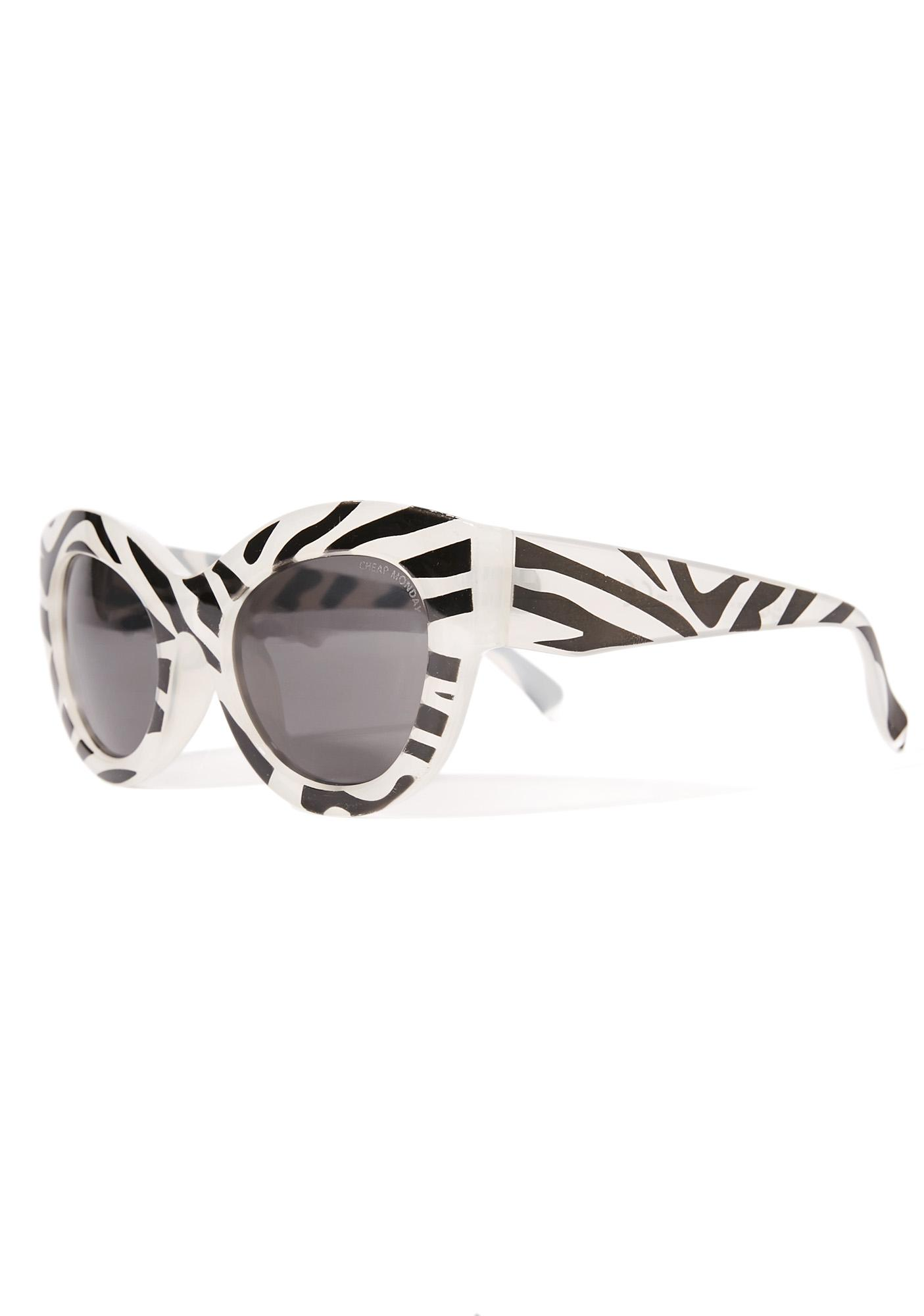 Cheap Monday Zebra Vicious Sunglasses