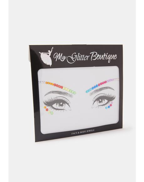 Rainbow Rhinestone Eye Gem Pack