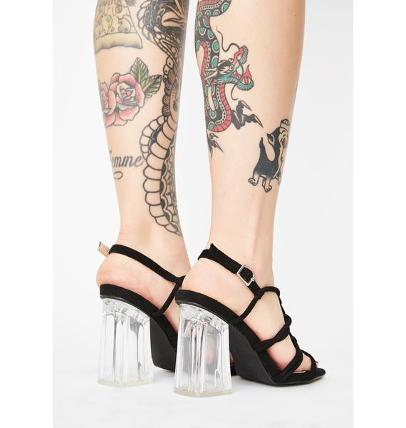 Play For Keeps Clear Heels