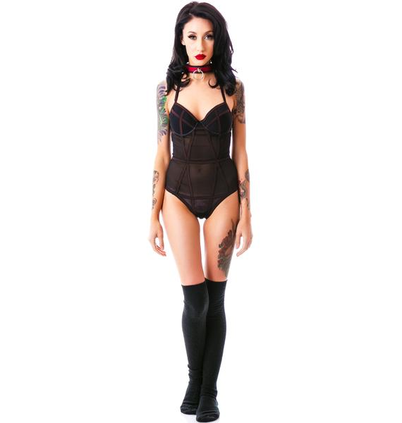 Wicked Wishes Mesh Teddy