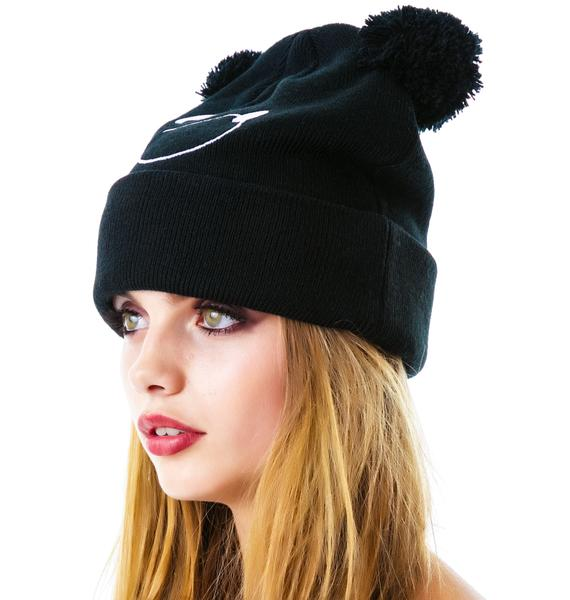 Lazy Oaf Bear Bobble Hat
