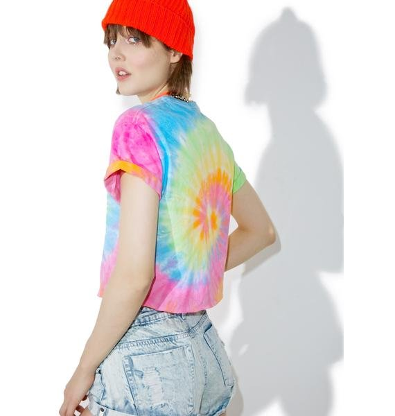 Moon River Collective Earth Sux Cropped Tee