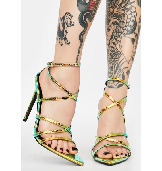 Mermaid Baddie Alert Strappy Heels