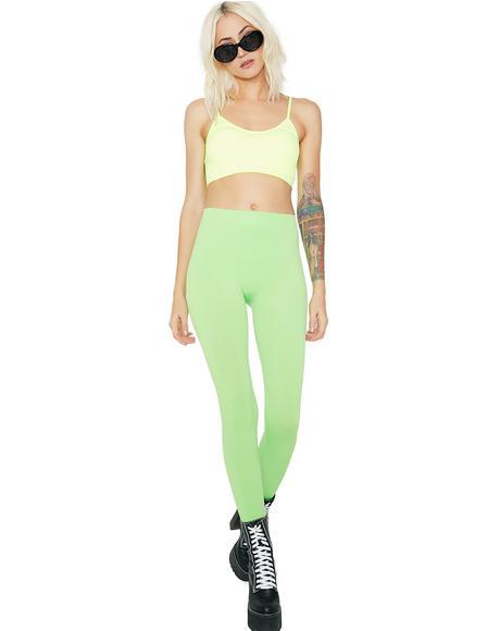 Lime So Electric Leggings