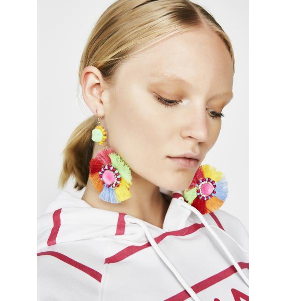 Fuzzy Feelz Fringe Earrings