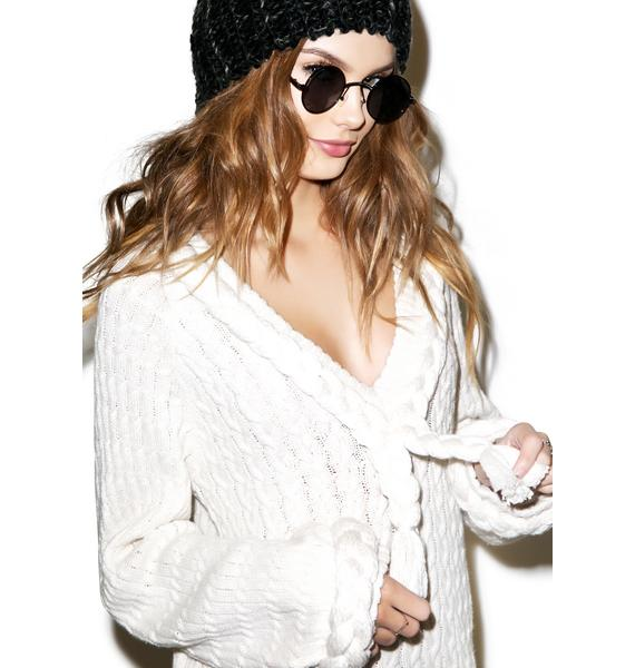 For Love & Lemons Creme Billy Pullover Sweater