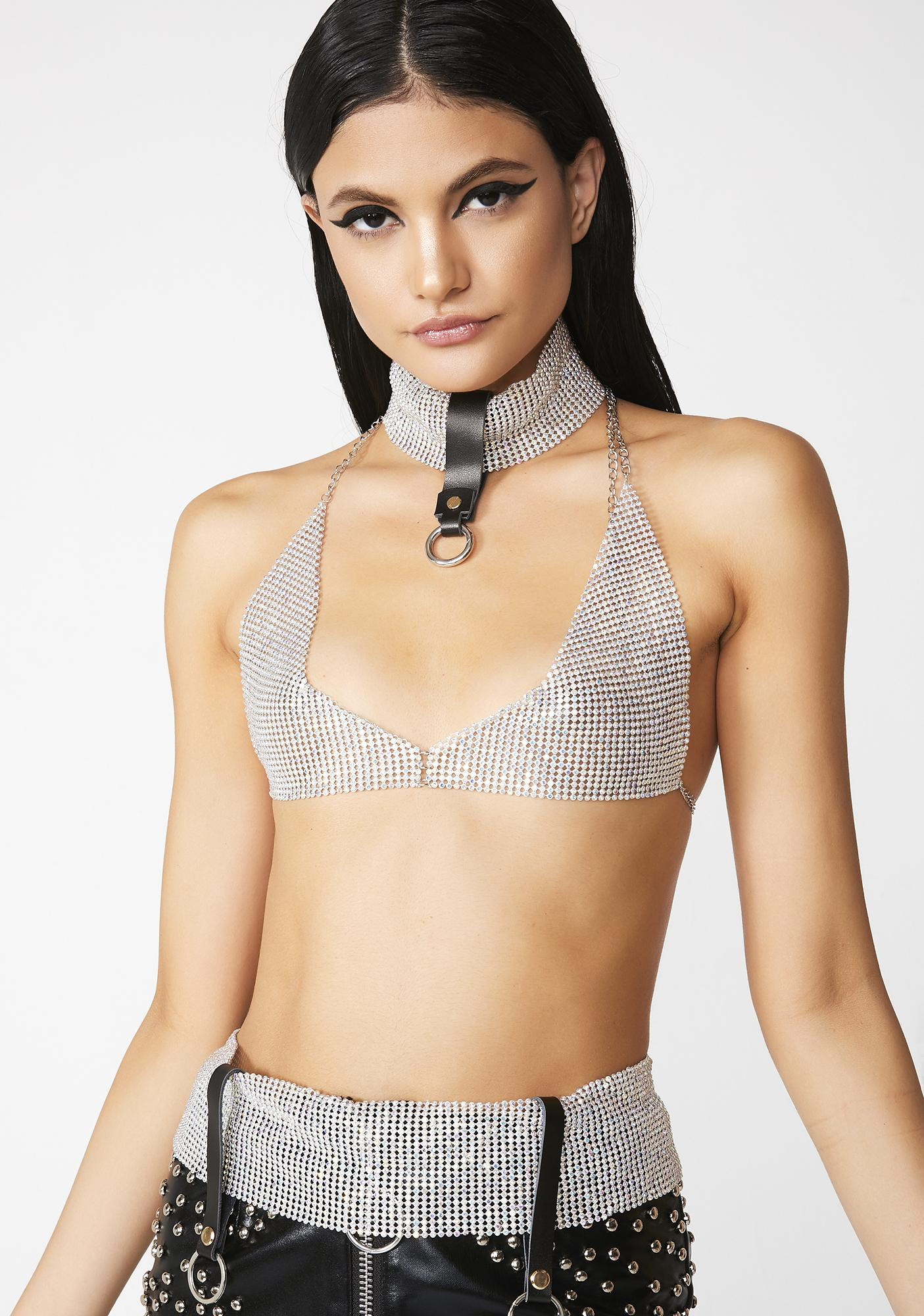 f01aeed749 Aaliyah Chainmail Bralette Costume Set