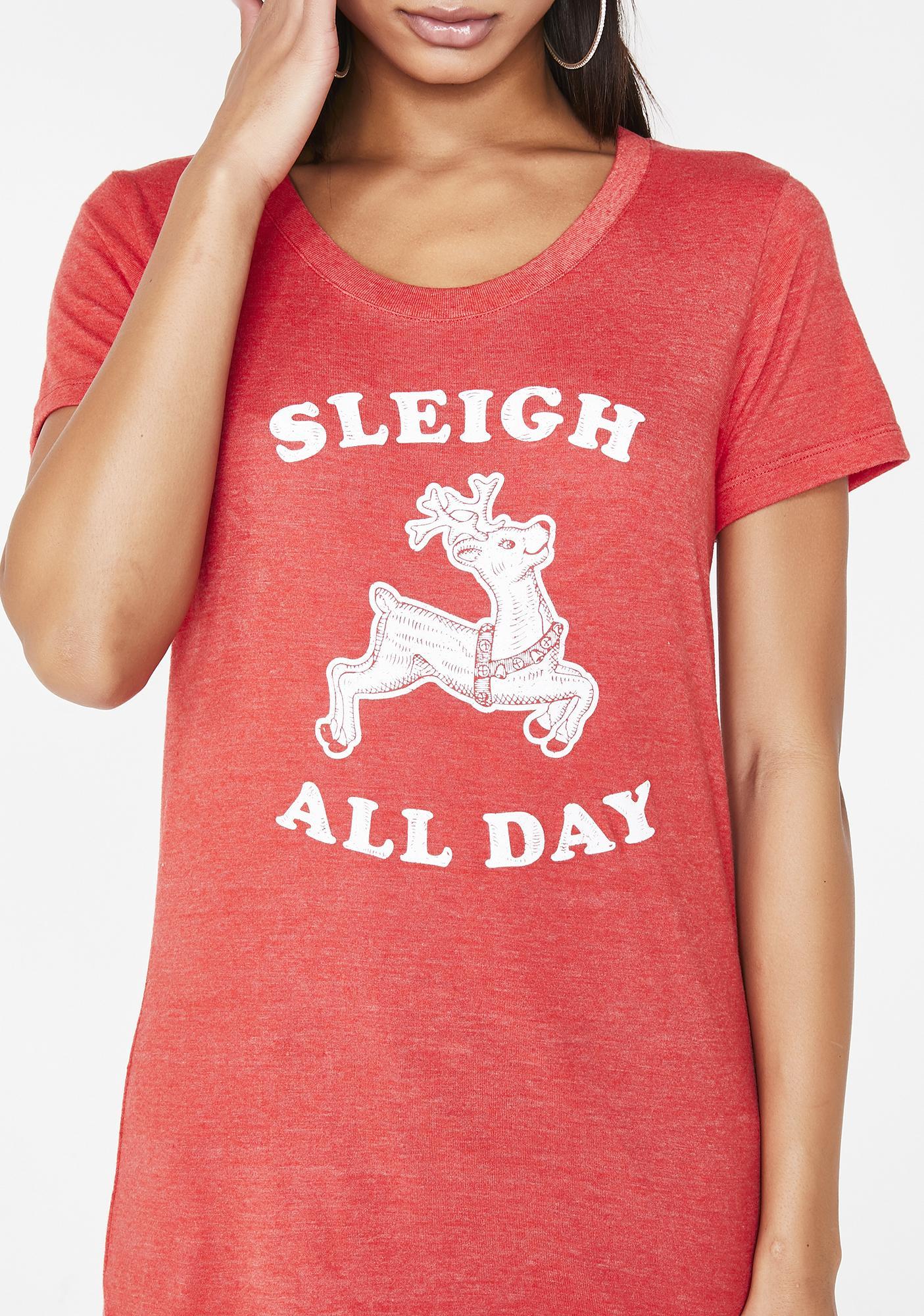 Tipsy Elves Sleigh All Day Tee