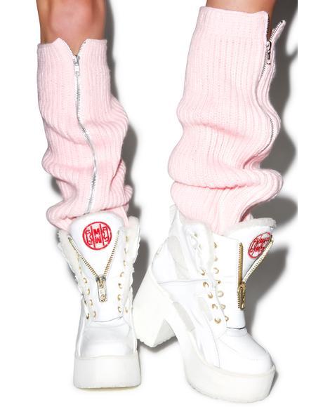 Fluffy Knit Leg Warmers