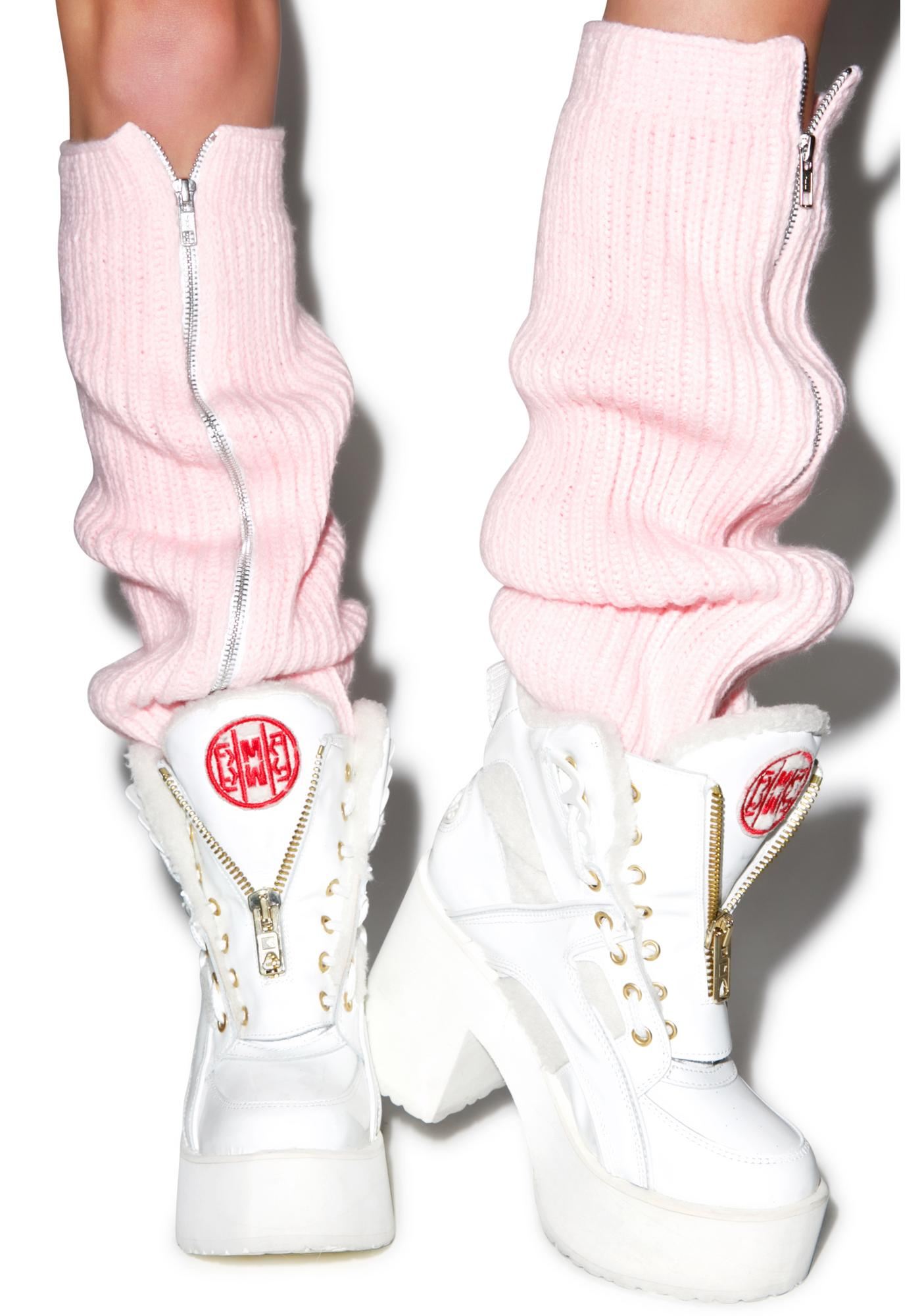 Maria ke Fisherman Fluffy Knit Leg Warmers