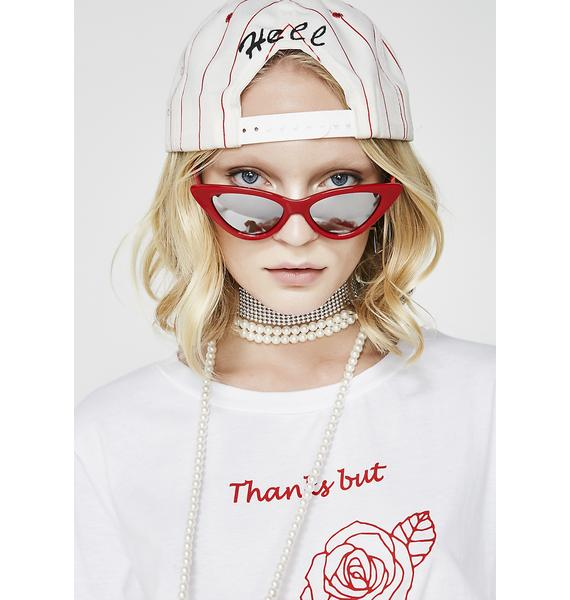 Cherry Vibin' On Ya Sunglasses