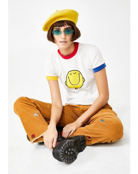 Mr Happy Colour Block Tee