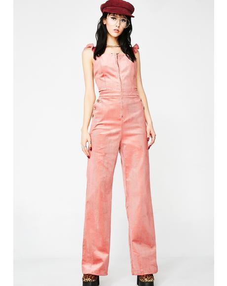 Creme Of The Crop Cord Overalls