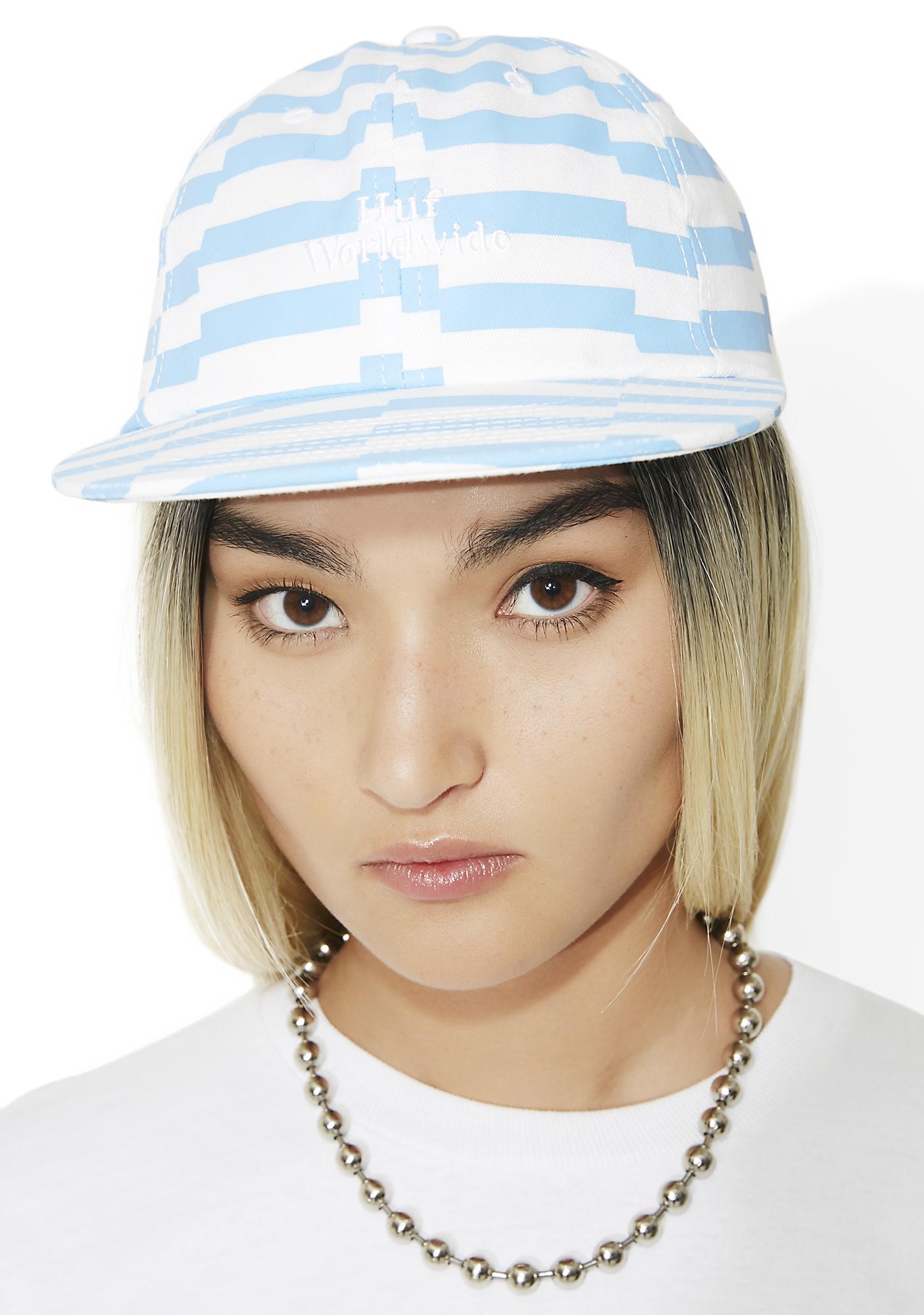 HUF Offset Stripe 6 Panel Hat