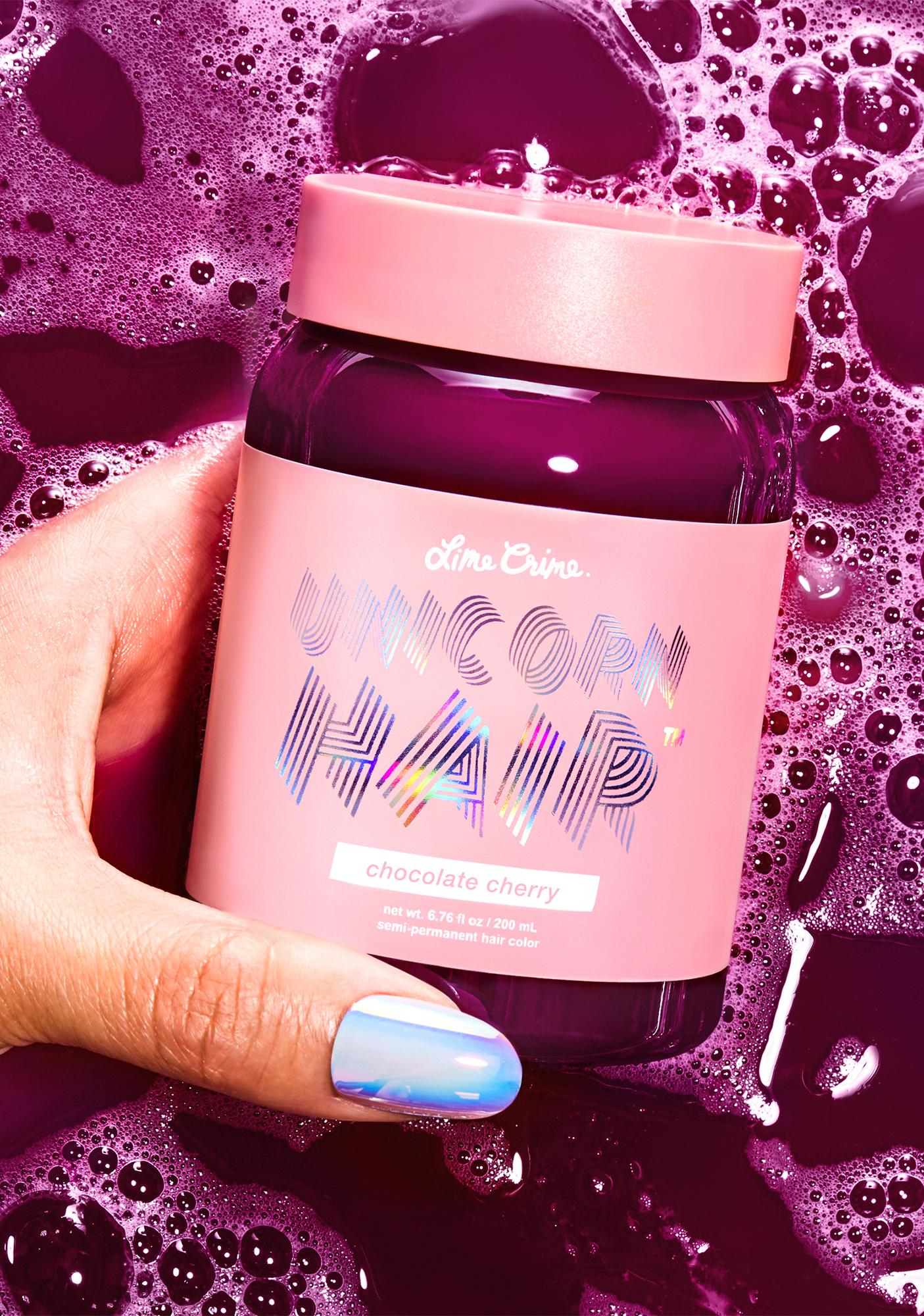 Lime Crime Chocolate Cherry Unicorn Hair Dye