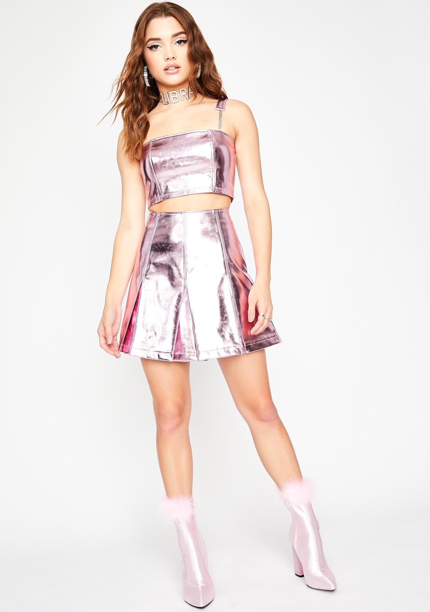 HOROSCOPEZ Magnetic Charm Metallic Skirt