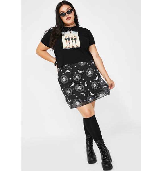 Dolls Kill x The Craft Divine Mistress Of Manon Mesh Skirt