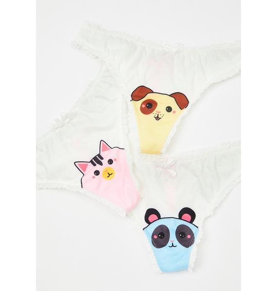 Sugar Thrillz Little Party Animals Panty Set