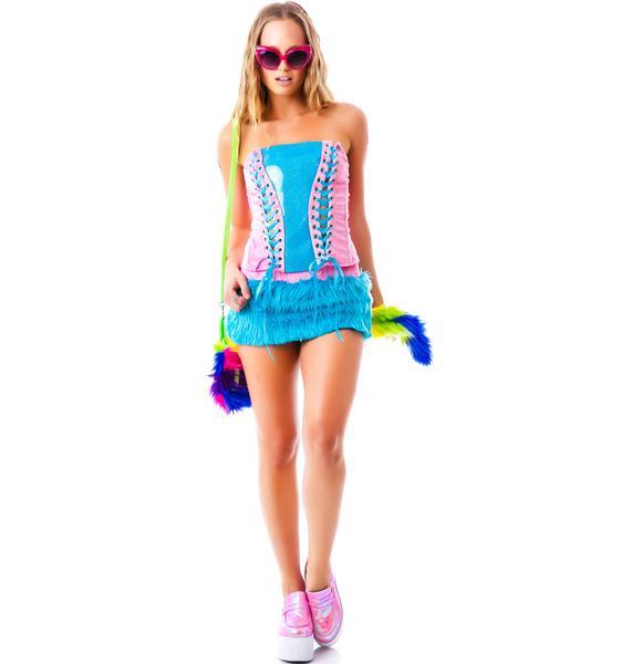 J Valentine My Lil Rainbow Dash Pony Skirt Set
