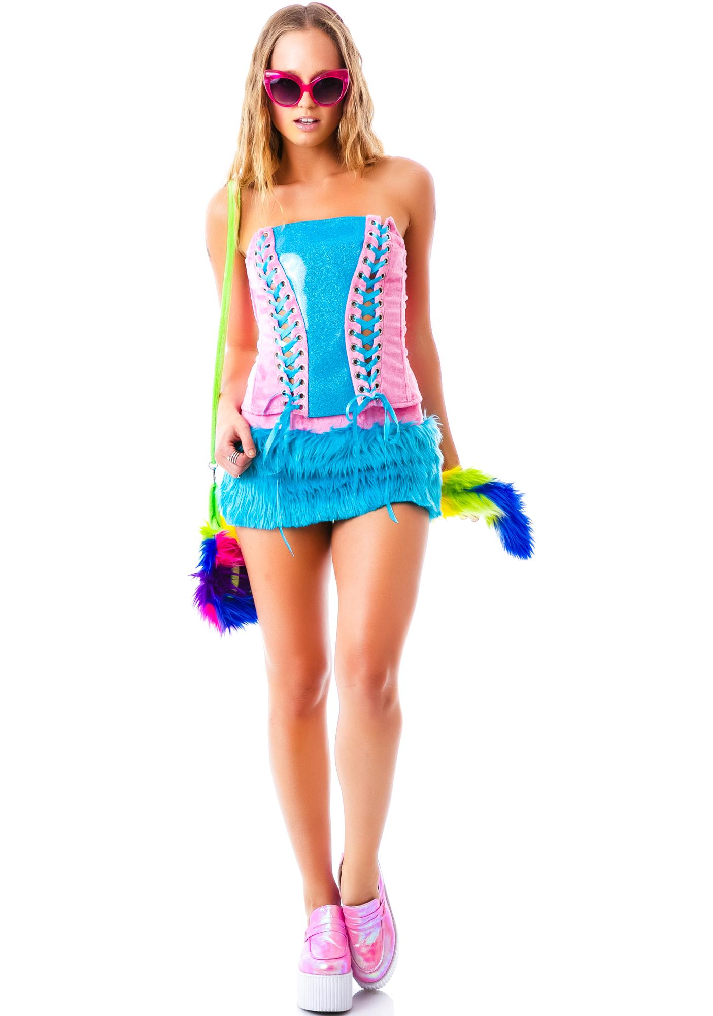J Valentine My Lil Rainbow Dash Pony Skirt Set