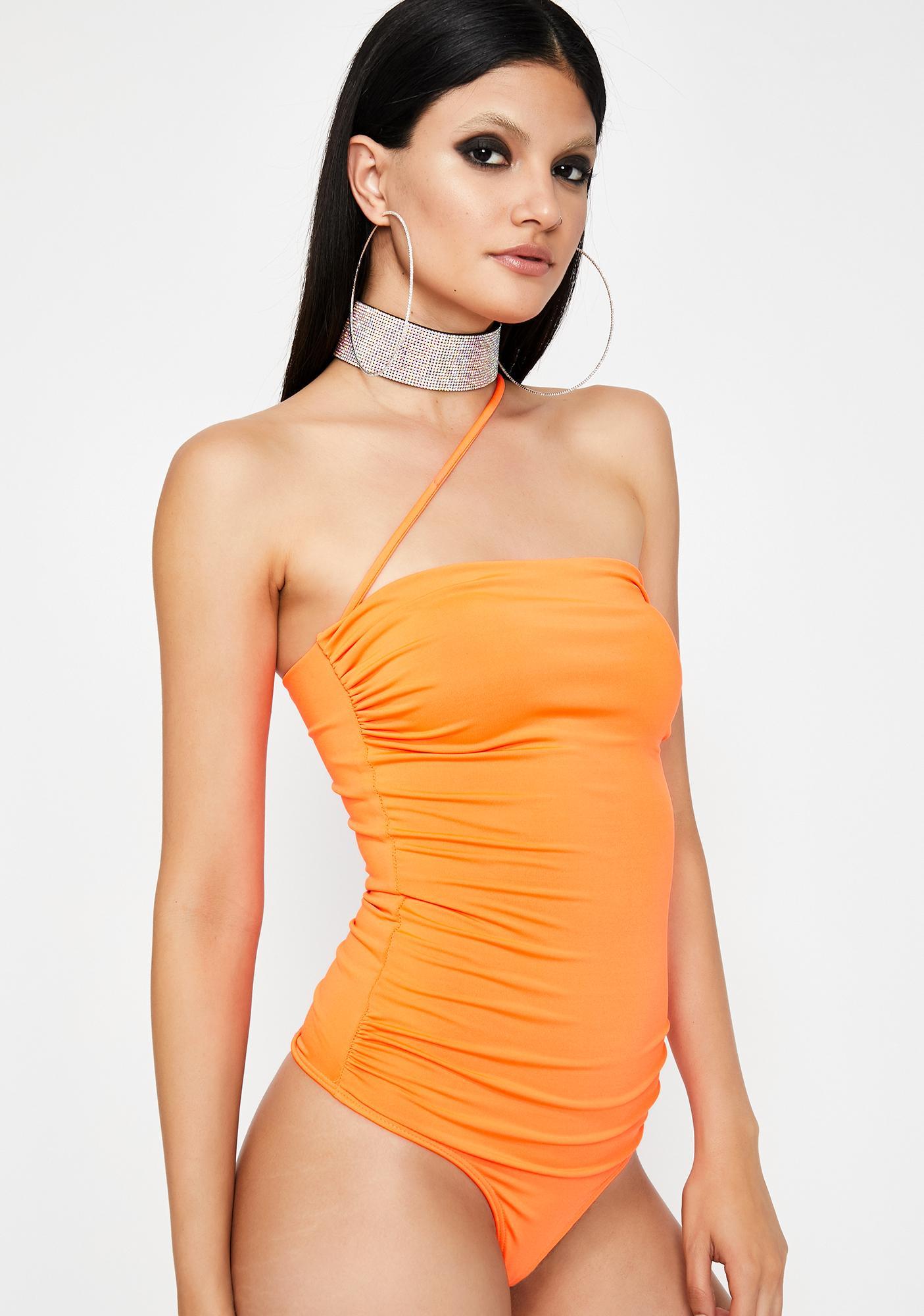 Juicy Slay Talent Ruched Bodysuit