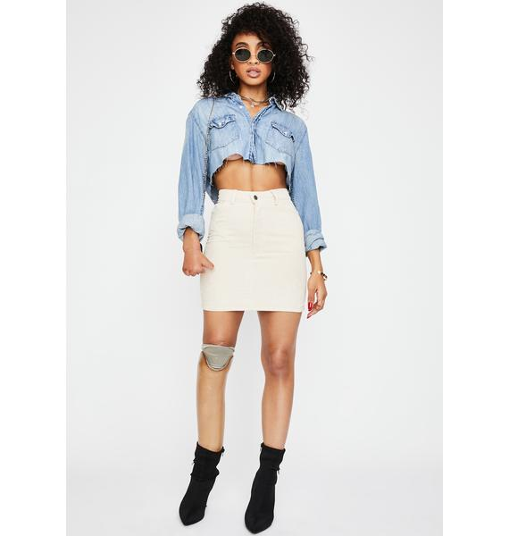 Motel Stone Mini Broomy Skirt
