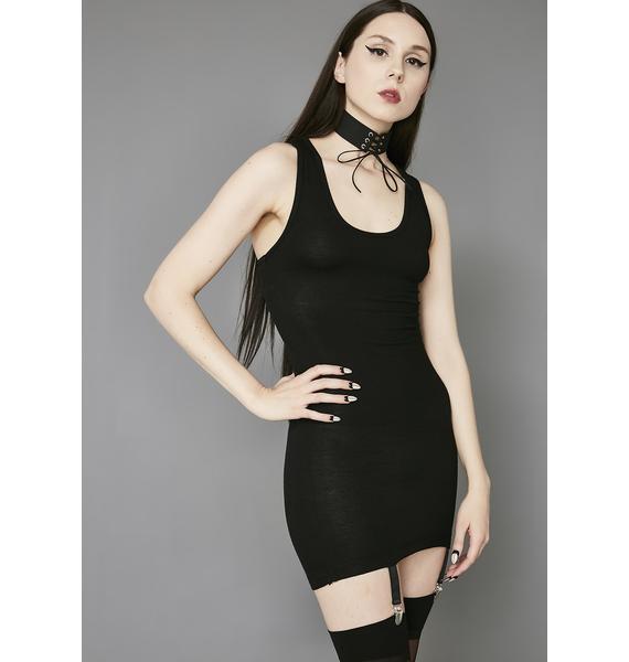 Widow Doomed Garter Tank Dress