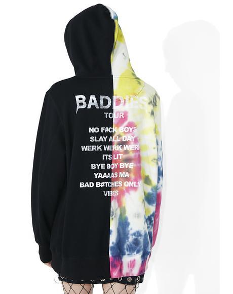 Baddies Tour Tie-Dye Pullover