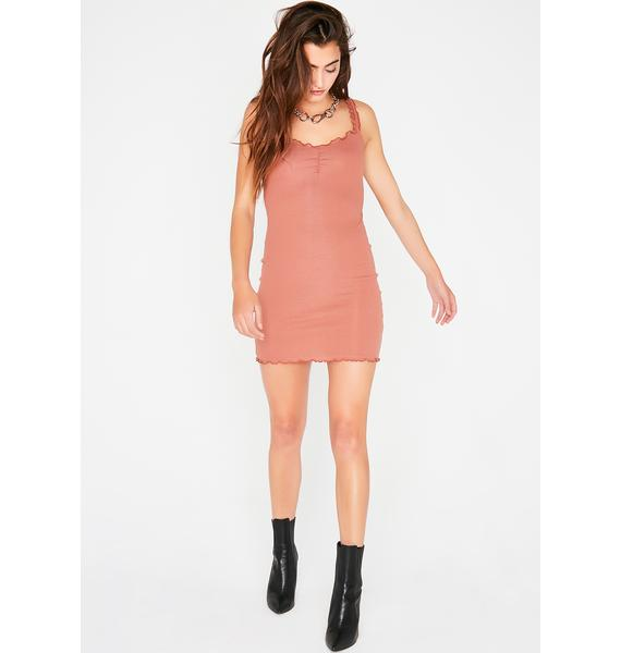 Rose Make U Regret It Bodycon Dress