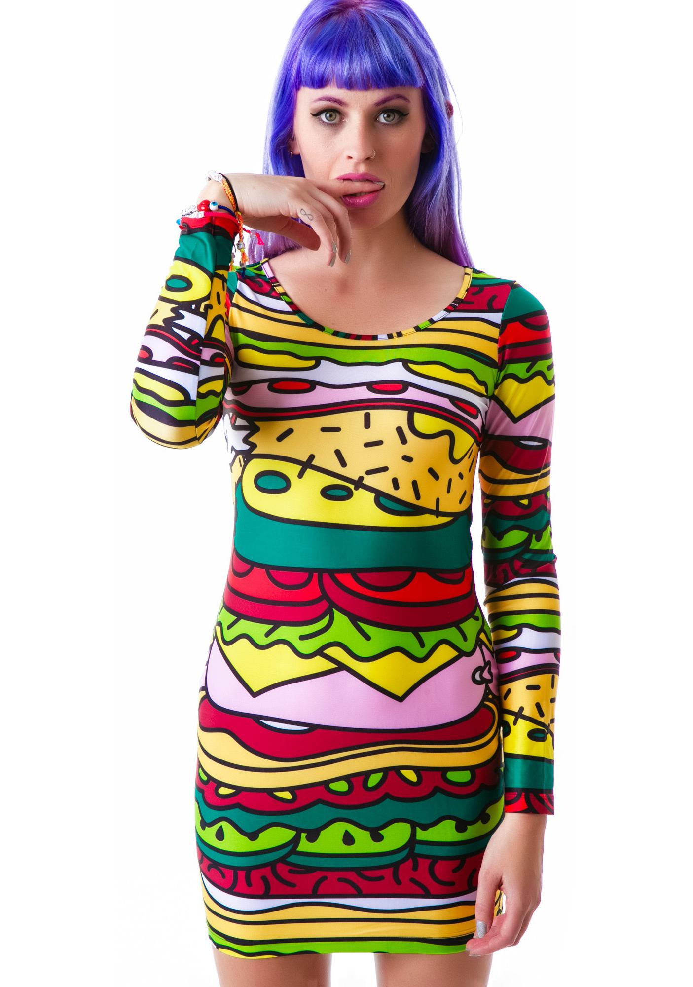 Lazy Oaf Baloney Bodycon Dress