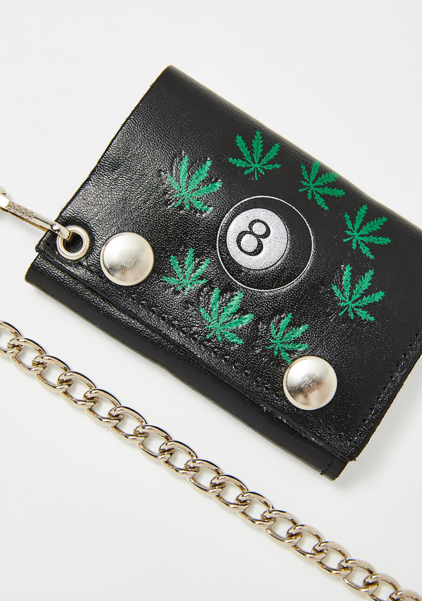 The Cobra Snake Weed & 8 Ball Chain Wallet
