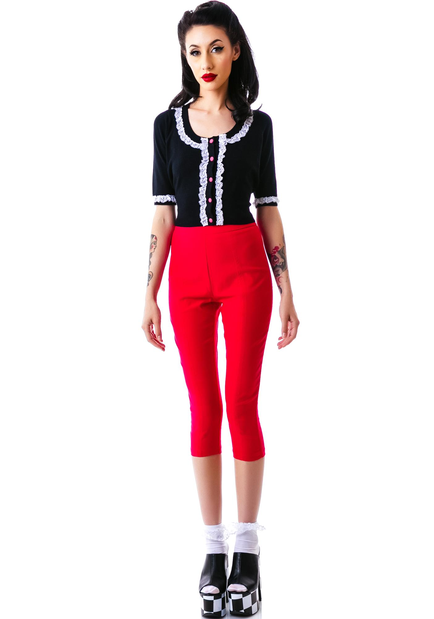 Sourpuss Clothing All Dolled Up Cardigan