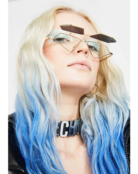 Dark Diamond Daze Flip-Up Sunglasses