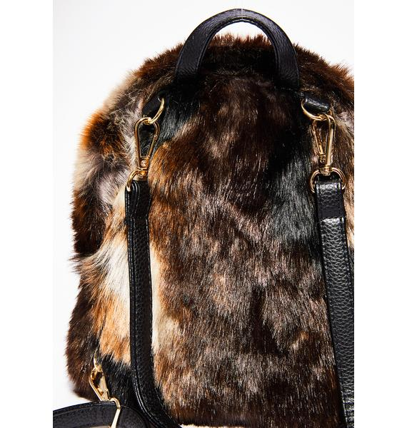 Into The Wild Fuzzy Backpack