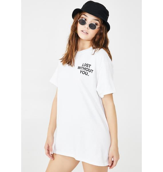 Petals and Peacocks Lost Without You Graphic Tee