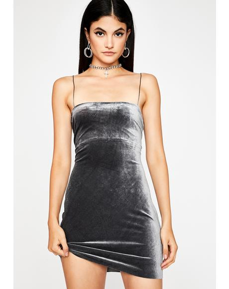 Starbright Velvet Mini Dress