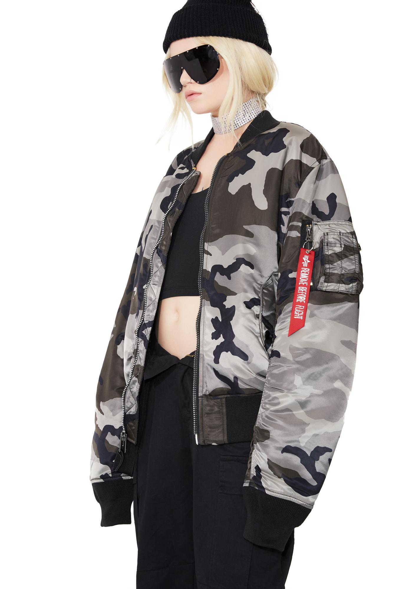 Alpha Industries MA-1 Slim Fit Camo Flight Jacket